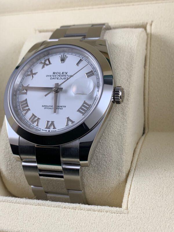 Rolex Datejust Weiß 41mm